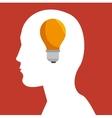 silhouette head idea business concept design vector image