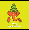 happy ganesh chaturthi festival greeting card vector image
