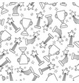 seamless pattern with hand-drawn awards vector image