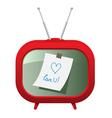Red retro tv vector image vector image