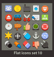 flat icon-set 10 vector image