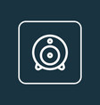 web cam outline symbol premium quality isolated vector image