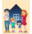 A family with four members vector image vector image