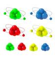 3d molecule structure vector image
