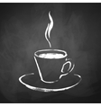 A cup of coffee with steam vector image