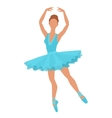 Stylized silhouette of ballerina in dress on white vector image