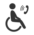 Disability man pictogram flat icon phone isolated vector image