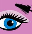 female eye mascara vector image vector image