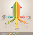 Modern arrow infographics template vector image