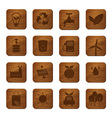 Eco Friendly Wooden Buttons vector image