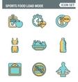 Icons line set premium quality of fitness icon vector image