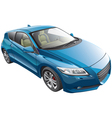 blue sport car vector image