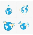 Earth icons set on white background vector image