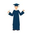 man boy graduate gown vector image