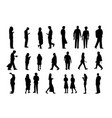 set of people in silhouette style design vector image