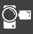 video camera solid icon device and electronic vector image