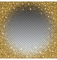 Gold glitter and bright sand transparent vector image