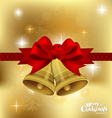 Christmas bells background vector image vector image