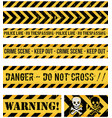 police line crime and warning seamless tapes vector image