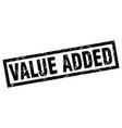 Square grunge black value added stamp vector image