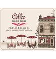 street cafes vector image