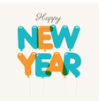 happy new year card balloons type vector image vector image