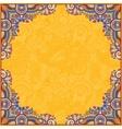 yellow floral vintage frame ukrainian ethnic vector image