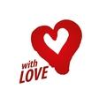 logo heart vector image vector image