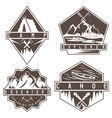 canoe camping and adventure vintage labels set vector image