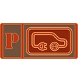 electrical vehicle parking sign vector image