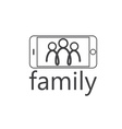 happy family selfie design template vector image