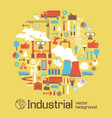 industrial poster with elements of urban landscape vector image
