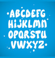 liquid comic font with splashes alphabet vector image