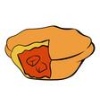 meat pie icon cartoon vector image