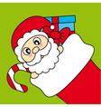 Santa Claus wishing Merry Christmas vector image