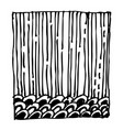 square design pattern doodle hand drawn vector image