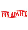 tax advice grunge rubber stamp vector image
