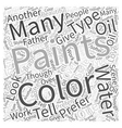 water color painting Word Cloud Concept vector image