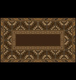 ethnic carpet with armenian vintage ornament in br vector image
