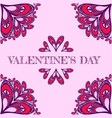 valentine s background with stylized hearts vector image