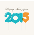happy new year 2015 card balloons type vector image