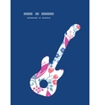 pink flowers guitar music silhouette vector image vector image