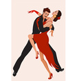 Abstract dancing couple vector image