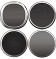 four round speakers grilles vector image