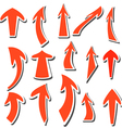 Arrows stickers set vector image vector image