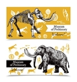 Sketch Hand Drawn Mammoth Banners vector image