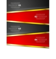 Bright red black infographics design with golden vector image vector image