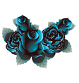 Blue Roses2 vector image