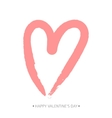 Brush drawing calligraphy heart card vector image