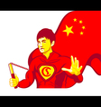 China superman vector image